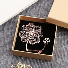 Hollow Bookmark Metal Gifts Chinese-Style Creative Students 1pc Leaf Vein Fringed