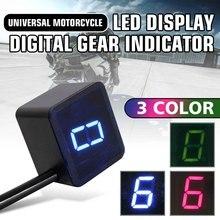6 Скорость нейтральный универсальный мотоцикл/велосипед цифровой Шестерни индикатор светодиодный Дисплей+ рычаг переключения магнит