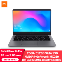 Original Xiaomi RedmiBook Laptop Pro 14.0 inch i5 10210U / i7 10510U NVIDIA GeForce MX250 8GB DDR4 512GB SSD Windows 10 Notebook