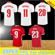 2021 Poland Soccer Jersey Home away 20 21 red white MILIK POL LEWANDOWSKI PISZCZEK and Jerseys football Shirts uniforms