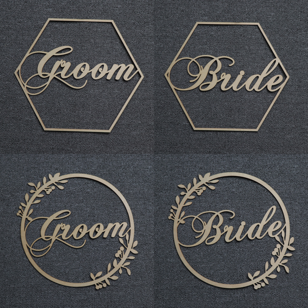 Wood Chair Banner Chairs Sign DIY Wedding Decoration for Engagement Wedding Party Supplies Bride&GroomMr&MrsBetter&Together (23)
