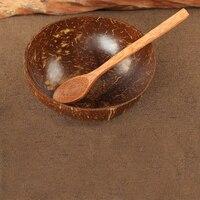 Ciottola di Cocco Naturale con Cucchiaio di Legno 13