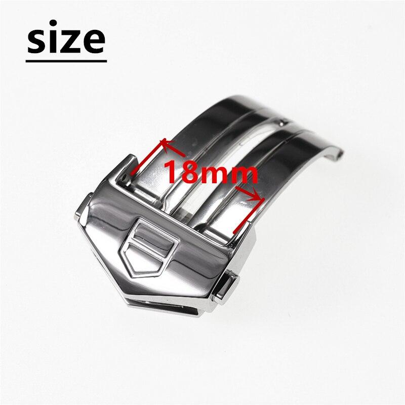 18 мм серебряная застежка из нержавеющей стали для часов TAG Heuer AQUARACER CALIBRE 5, силиконовый резиновый ремешок, пряжка, кнопка, аксессуары
