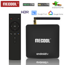 MECOOL KM8 Android 9.0 Smart TV Box 2GB DDR4 pamięci RAM, 16GB pamięci ROM WiFi 2.4G i 5G android TV Box USB 3.0 zestaw dekoder TV odtwarzacz multimedialny 4K(China)