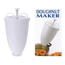 Пластик руководство пончик машина для глубокой прожарки форма для пончиков Пластик легкий вафельный диспенсер, Пончик для локонов