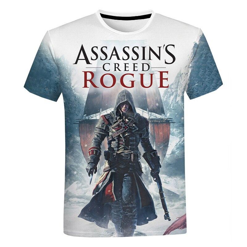 Assassins Creed Valhalla 3D Print T-Shirt Summer Men Women Fashion Casual T-shirt Assassins Creed Print Streetwear short sleeve