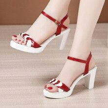 Plus Size 32-43 High Heels Sandals Women Wedding Shoes Summer 2021 OL Elegant Platform Sandals Ladies Office Party Sandals