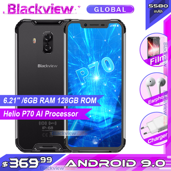 """Blackview BV9600 Pro 6.21"""" Helio P70 IP68 Waterproof Rugged Smartphone MT6771T Android 9.0 6GB 128GB 4G Mobile Phone 5580mAh"""