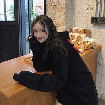 Devil Horn Hoodie Streetwear Devil Hoodie Gothic Hooded Hoody Women Loose Black Hooded Pollovers Sweatshirts Oversized Harajuku 8