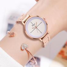 цена на Disu Luxury Women Watches Wrist Watch Relogio Feminino Clock For Women Stainless Steel Ladies Rose Gold Quartz Ladies Watch New