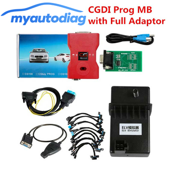 Latest V2.8.3.1 CGDI Prog MB Benz Key Programmer Support All Key Lost with Full Adapters for ELV Repair,100% Original cheapest latest arrival benz ir code reader mercedes benz key programmer for reading key data mb key programmer free shipping