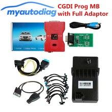 ล่าสุด V2.8.3.1 CGDI Prog MB Benz Key Programmer สนับสนุน Key Lost พร้อมอะแดปเตอร์สำหรับ ELV ซ่อม, 100% Original