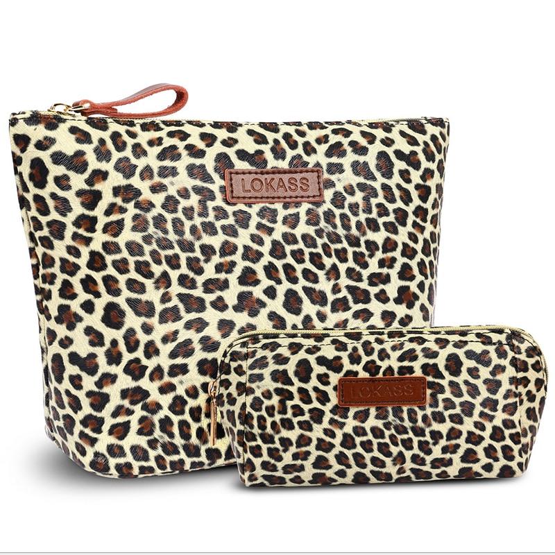 Makeup Pounch Leopard Print Travel