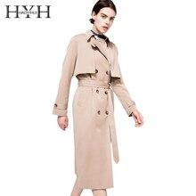 купить HDY Haoduoyi 2019 Autumn New High Fashion Brand Women Classic Double Breasted Trench Coat Waterproof Raincoat Business Outerwear по цене 1962.4 рублей