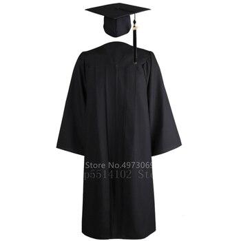 2020 2PCS Unisex American University Student Graduation Uniform Adult Academic Dress For Women Men Bachelor Gown Hat Set Costume