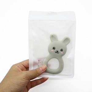 Image 2 - 卸売 100 ピース/ロットビニール袋おしゃぶり包装 & ディスプレイアクセサリー安全 BPA 無料シリコーンビーズパッケージディスプレイバッグ