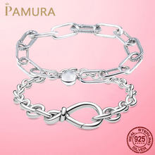 2021 Hot 925 Sterling Silver Original Me Bracelet Fit Brand Me Charm Beads Fashion Infinity Knot Women femme Bracelet Jewelry
