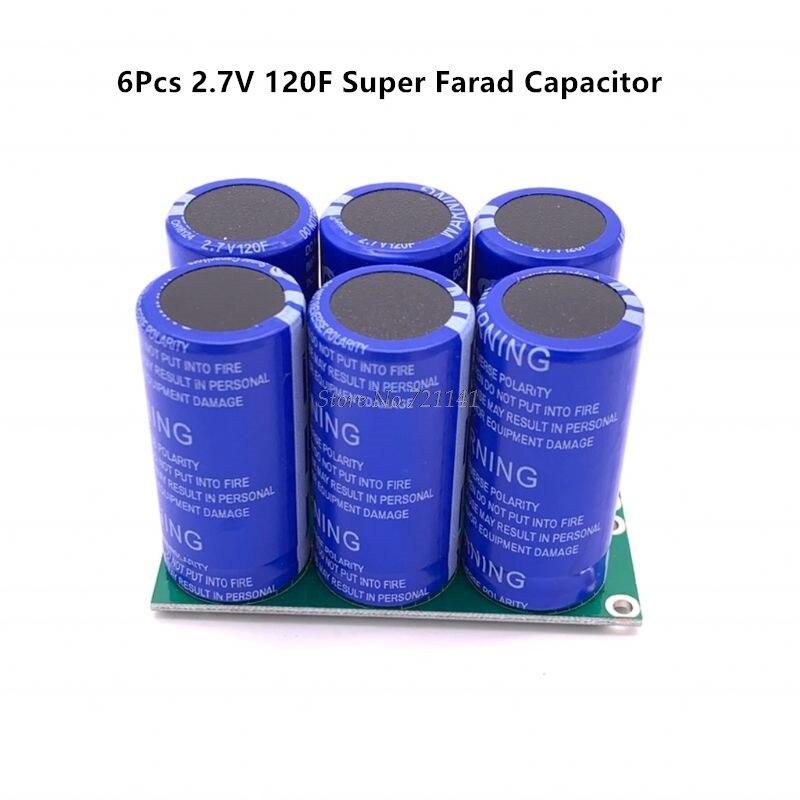 Super capacitores de faradio 6 uds. 2,7 V 120F Super condensador con tablero de protección doble filas 16V 20F Ultracapacitor para coche venta al por mayor