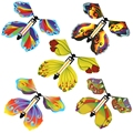 5/10 шт. волшебный в форме летающих бабочек заводные резинкой питание бабочки для детей