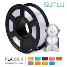 Sunlu Zijde Shiny Silver Pla 3D Printer Gloeidraad 1.75Mm 1Kg 2.2LBS Spool Veel Compatibel 3D Afdrukken Metalen Zilver gevoel