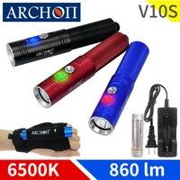 ARCHON V10S LED flashlight diving torch CREE XM L U2 LED chip MAX 860 lm dive flashlight underwater diving flashlight dive light