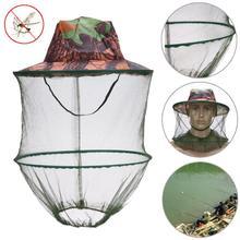 Москитный сетчатый головной убор, уличная защита от насекомых, пчелы жуки, защитная маска