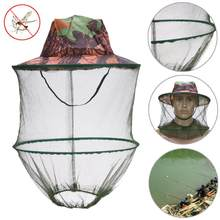 Mosquito Net Hat Outdoor Keeping Insects Bee Bug Prevention Cap Mesh Fishing Sunshade Lone Face Neck Head Cover Protector Mask(China)