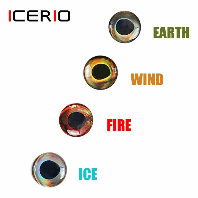 Blue//White  6//0 wide gap Epoxy Big Eye Streamer