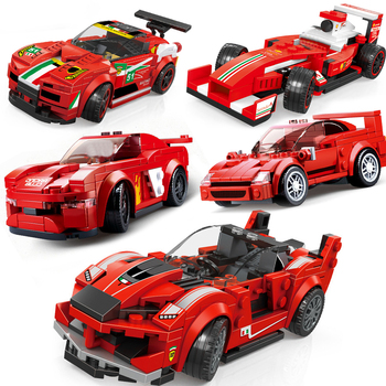 Speed Champions 2020 New Technic City Vehicles Super Racers Sports Racing Model Building Blocks Toys For Kids transport Car kits