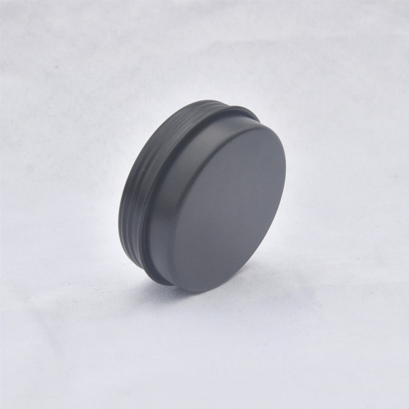 Купить с кэшбэком 100 x 15g 20g  Empty Mini Black Aluminum Cream Jar Pot Nail Art Makeup Lip Gloss Empty Cosmetic Metal Tins Containers