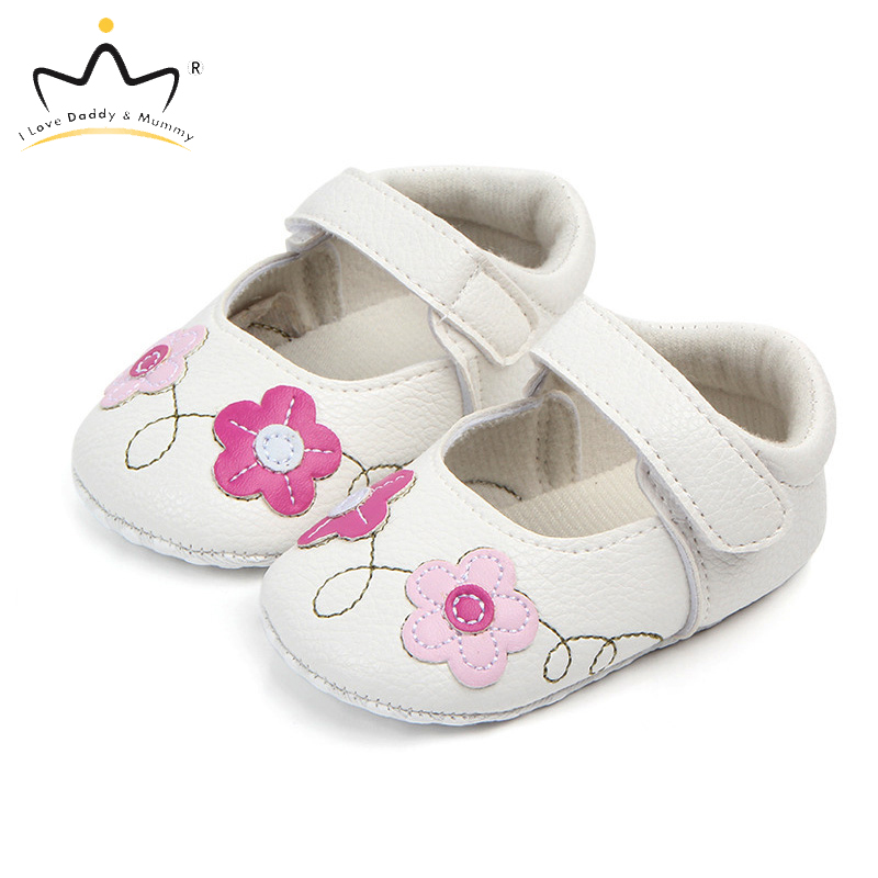 Flower Newborn Baby Shoes For First Walkers Soft Bottom Anti Slip Baby Girl Shoes Princess Infant Toddler Shoes Baby Schoenen