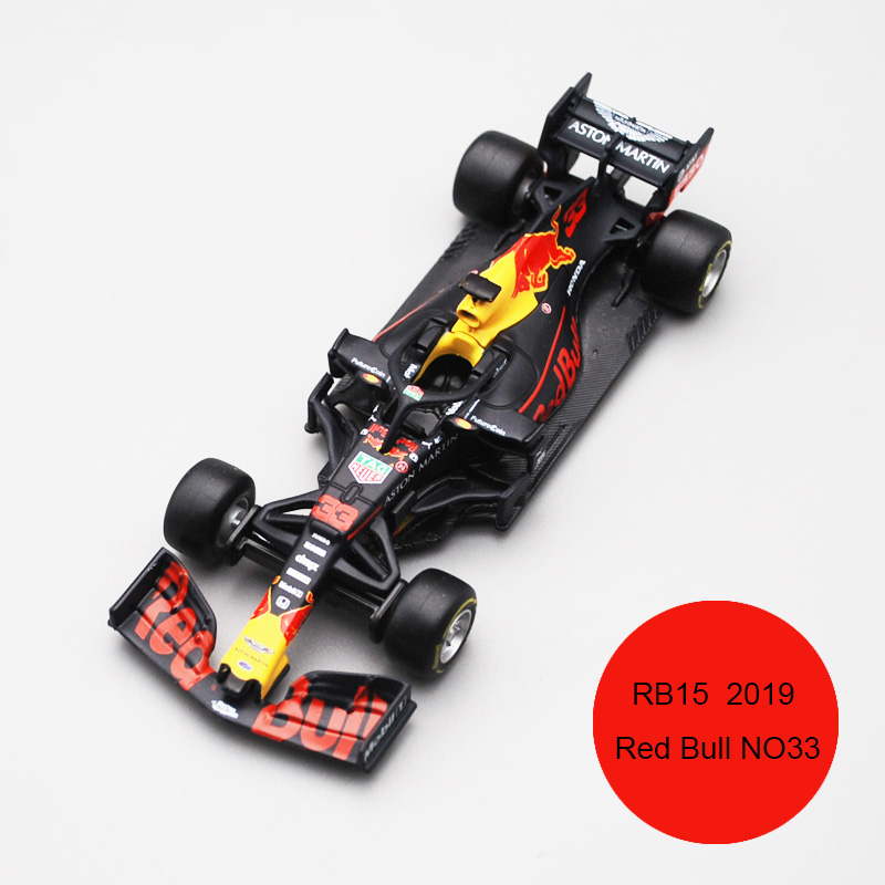 Bburago 1/43 1:43 Scale 2019 RB15 Redbull Red Bull No33 33 F1 Formula 1 Racing Car Diecast Display Plastic Model Children Toy