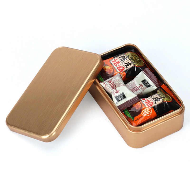 Tín Giả Yi Đóng Gói Gia Vị Bánh Quy In Hình Tự Hình Chữ Nhật Nhỏ Tặng Bạc Hà Mới Trà Kim Loại Hộp Thiếc