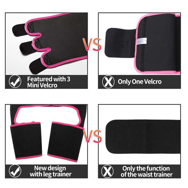Neoprene Sweat Slim Thigh Trimmer Waist Trainer Leg Shapers Slender Slimming Belt Shapewear Muscles Band Weight Loss Body Shaper 5