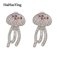 Jellyfish Personality Creative Marine Life Women Earrings Luxury Glamour Jewelry Fashion Beach Indian