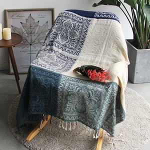 Image 5 - 5 colors Colorful Bohemian Chenille Plaids Blanket Sofa Decorative Throws on Sofa/Bed large Cobertor Blanket With Tassel T176