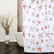 1pcs 1.5x1.5cm Peva Shower Curtain Thickened Waterproof Mildew-proof Fabric With 10pcs Hooks Bath Bathroom