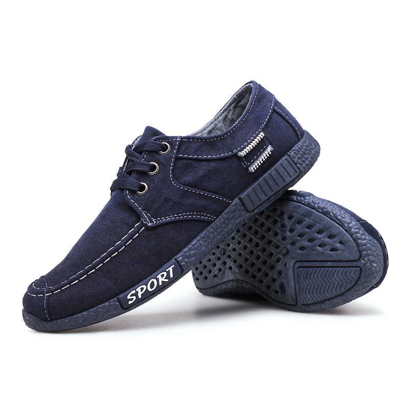 2019 yeni erkek rahat ayakkabılar hafif dantel-up erkek spor ayakkabı yüksek kaliteli katı moda erkek ayakkabı rahat PU