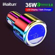 IHaitun Cao Cấp MÀN HÌNH LCD 36 W USB Sạc Trên Ô Tô Cho Samsung Sạc Nhanh 3.0 QC QC3.0 Nhanh USB Cho iPhone Xiaomi redmi K20 Note 7 OnePlus
