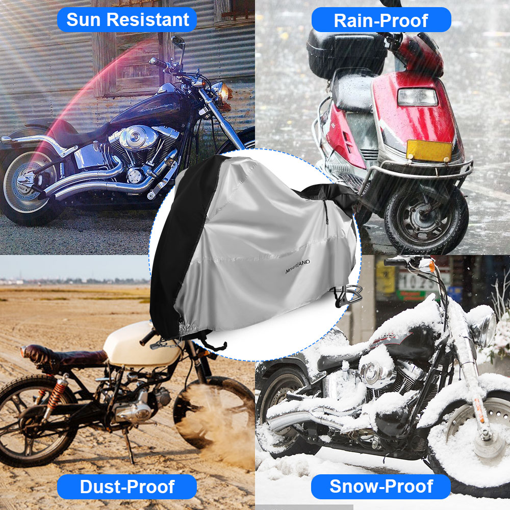 Image 5 - 210D Motorcycle Moto Cover Snow Rain Coat UV Protective Bike Scooter Covers Protector For Trunk Bracket Universal Motorcycles D4-in Car Covers from Automobiles & Motorcycles