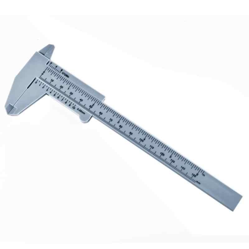 150 Mm Chất Lượng Cao Nhựa Vernier Caliper Nhựa Vernier Caliper Mini Học Sinh Có Kẹp Phanh Đo Dụng Cụ
