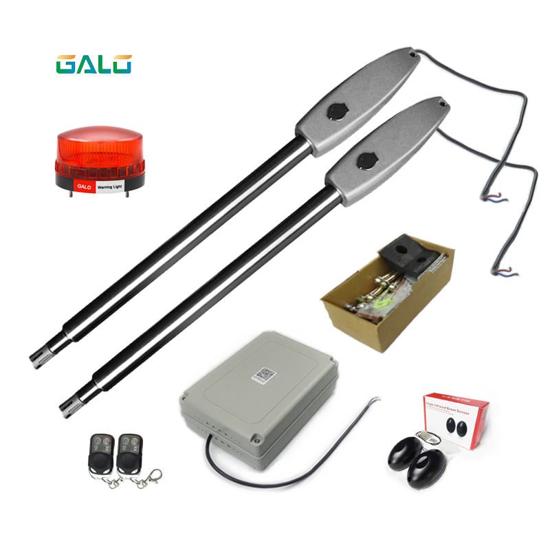 Duel Gate Opener PKMC022 Heavy-Duty Solar Dual Automatic Gate Opener Kit For Wide Swing Gates Up To 20 Feet