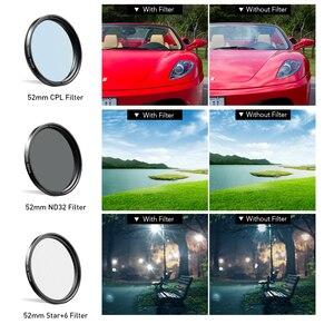 Image 3 - APEXEL 52 мм 7 в 1 полный комплект фильтров для объектива ND CPL Star полный красный желтый цветной фильтр для объектива камеры для Canon всех смартфонов