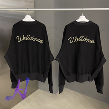 Welldone Pullover Autumn Winter Gold Line Letter Logo Embroidery Reverse Round Neck We11done Sweater