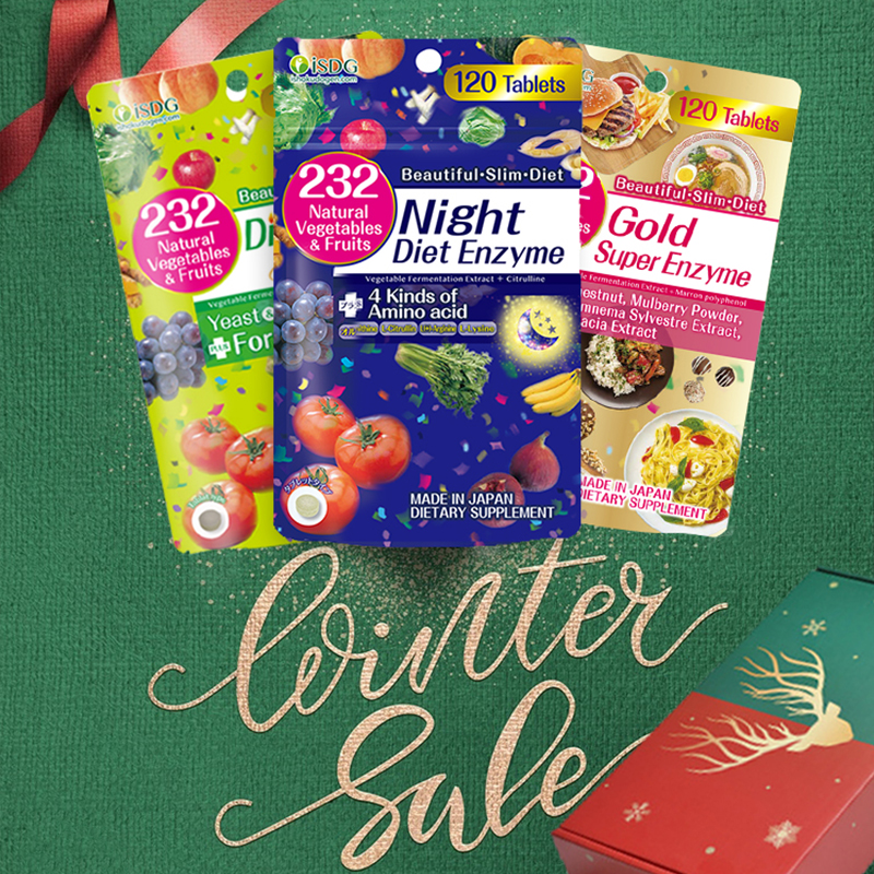【English Version】ISDG Night + Gold +Diet Enzyme.120 Counts X 3 Packs