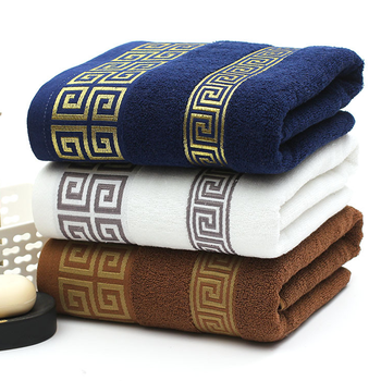 High Quality Luxury Soft Embroidered Towels Bathroom Strongly Water Absorbent Adult Beach Towel 100% Cotton 35x75cm - discount item  49% OFF Home Textile