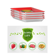 Clever Tray Creative Food Plastic Preservation Tray Kitchen Items Food Storage Container Set Food Fresh Storage Microwave Cover(China)