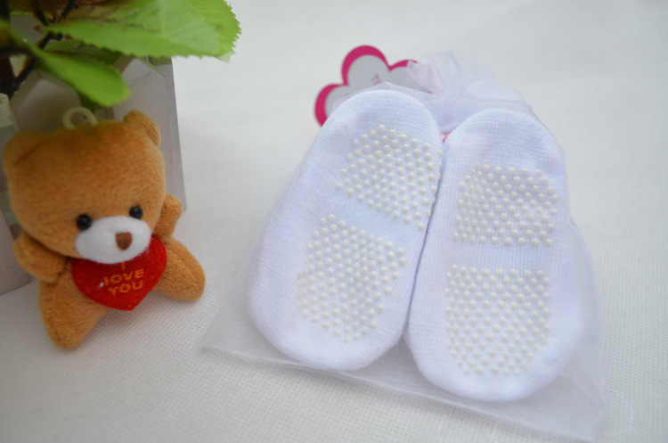 2PCS 100% cotton Baby car socks slip-resistant floor socks  cartoon small kid's socks for 0-1year boys and girls