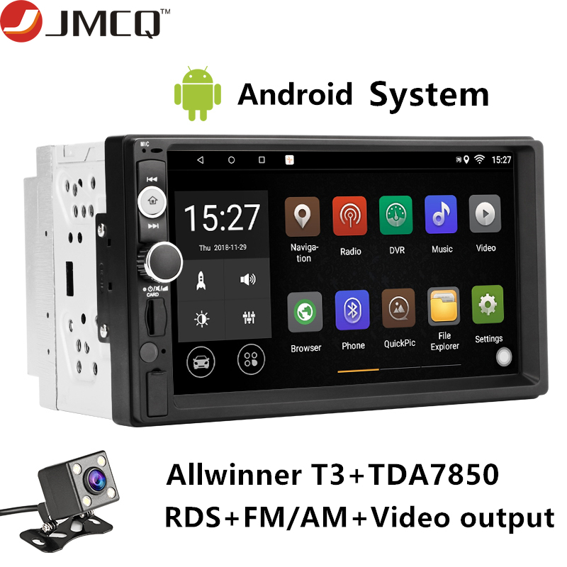 JMCQ Android 9.0 T3L PLUS For VW Toyota Nissan Universal Car Radio Multimidia Video Player Navigation GPS 2GB+32GB DSP 2din Dvd