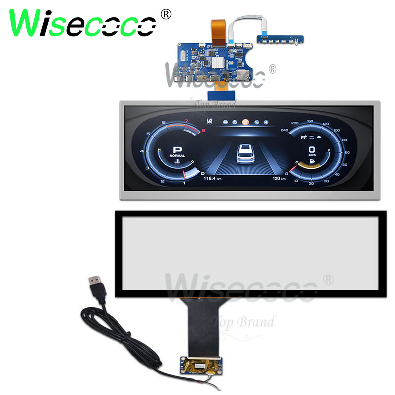 12.3 Inch Touch Screen 1920*720 IPS 1000 Nits Brightness Display  With Mini HDMI Lvds Type C Driver Board For Automotive Display
